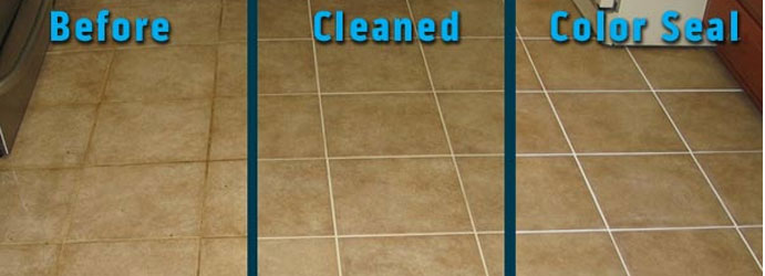Tile and Grout Color Sealing Breakfast Point